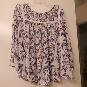 Lane Bryant Circle Hem Blouse